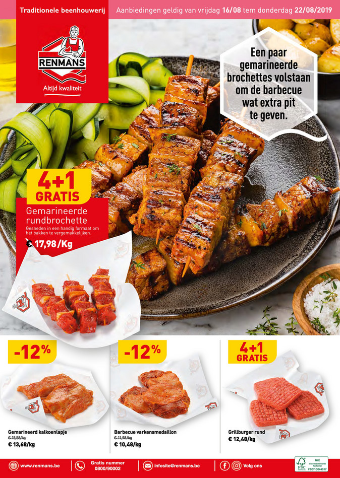 Renmans folder van 16/08/2019 tot 22/08/2019 - Weekpromoties 33