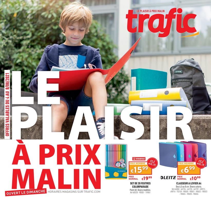 Folder Trafic du 04/08/2021 au 08/08/2021 - Promotions de la semaine 31