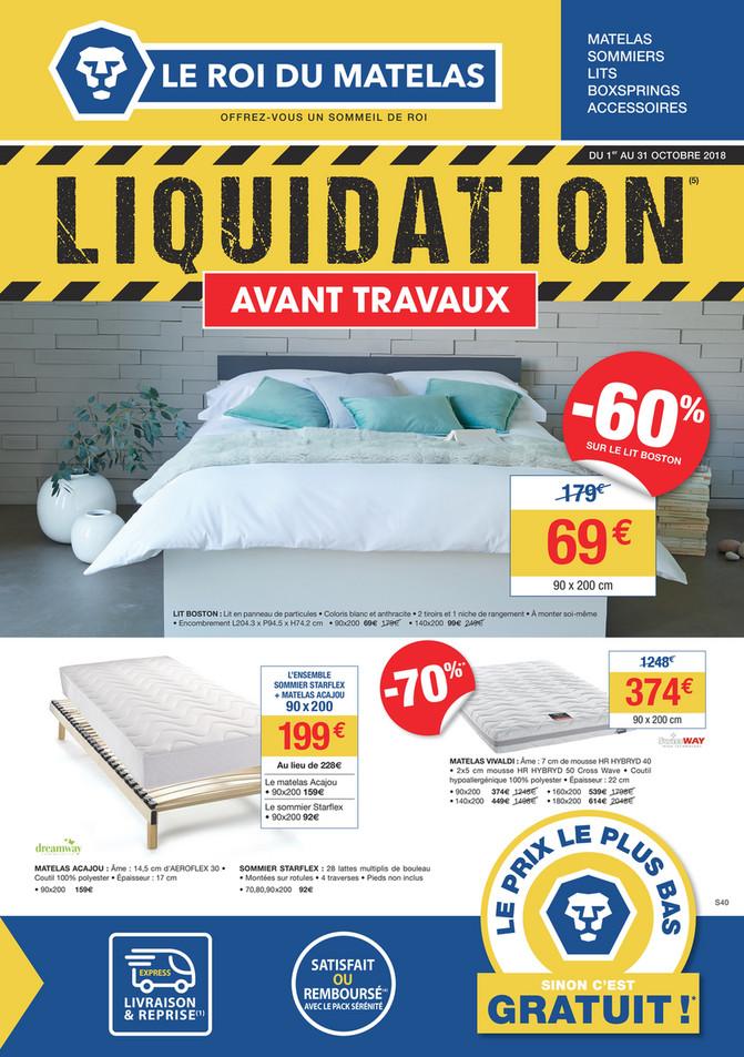 Folder Le roi du matelas du 01/10/2018 au 31/10/2018 - Promotions du mois