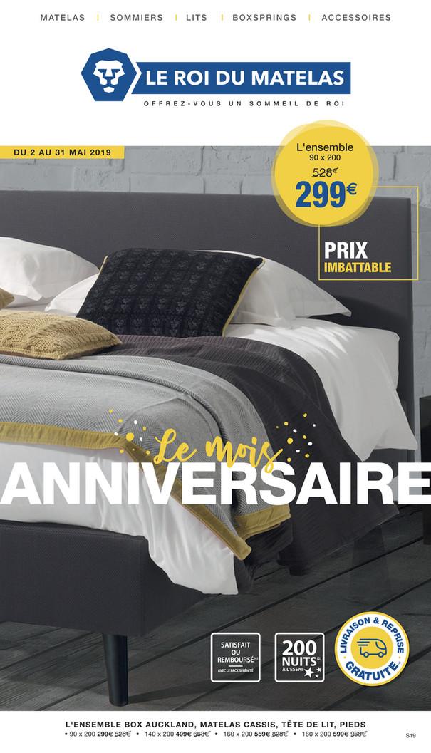 Folder Le roi du matelas du 02/05/2019 au 31/05/2019 - Promotions du mois