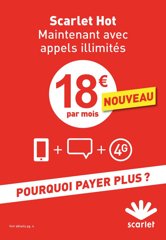 Folder Scarlet du 01/09/2018 au 31/10/2018 - Promotions du mois