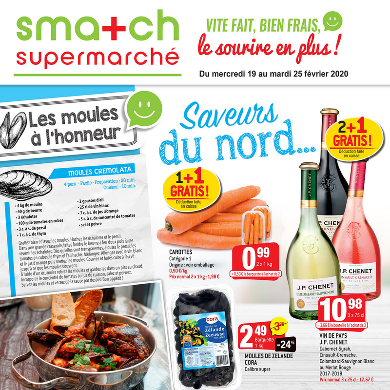 Folder Smatch du 19/02/2020 au 25/02/2020 - Promotions de la semaine 08