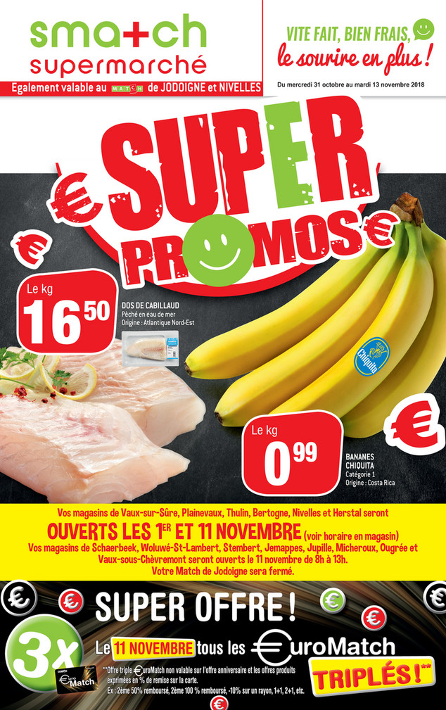 Folder Smatch du 31/10/2018 au 13/11/2018 - Promotions de la semaine 45