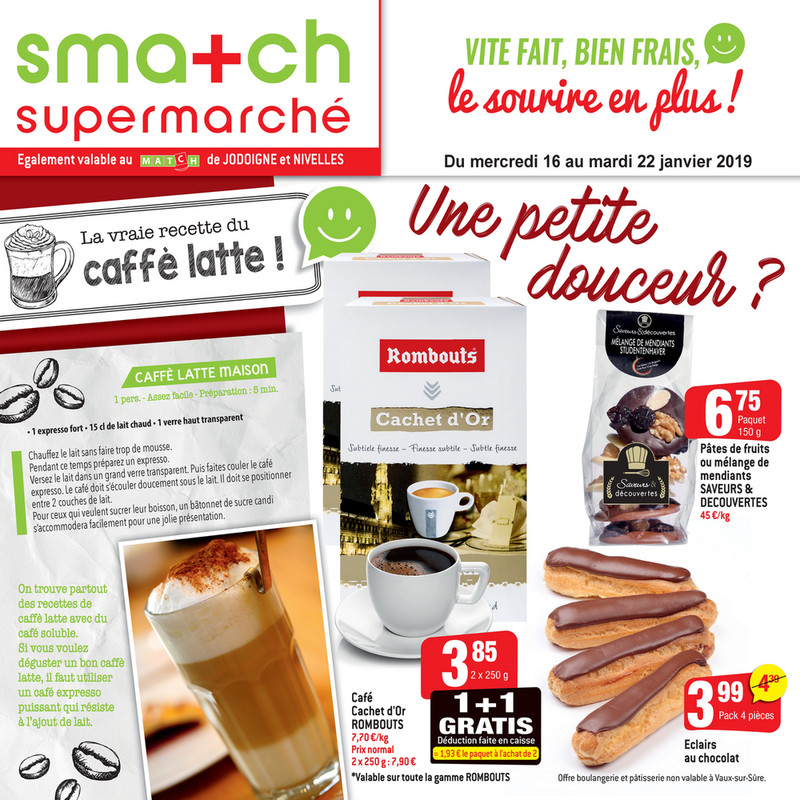 Folder Smatch du 16/01/2019 au 22/01/2019 - Promotions de la semaine 3