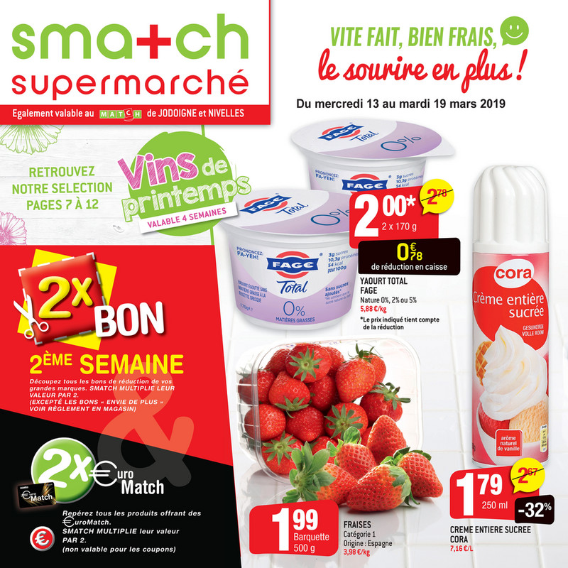Folder Smatch du 13/03/2019 au 19/03/2019 - Promotions de la semaine 11