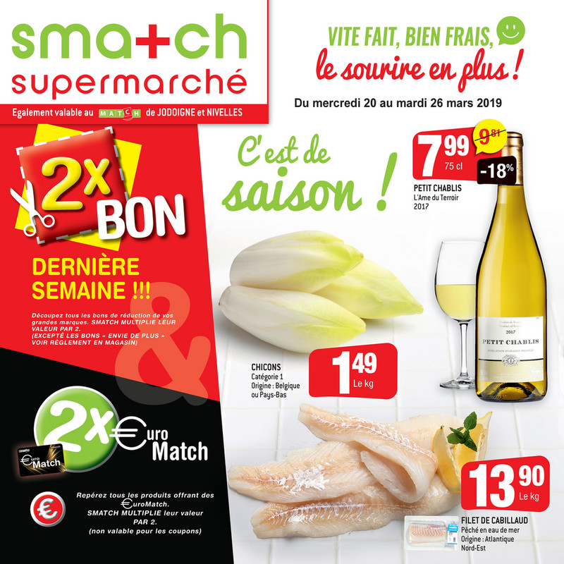 Folder Smatch du 20/03/2019 au 26/03/2019 - Promotions de la semaine 12