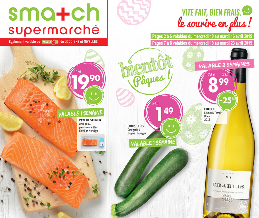 Folder Smatch du 10/04/2019 au 23/04/2019 - Promotions de la semaine 15