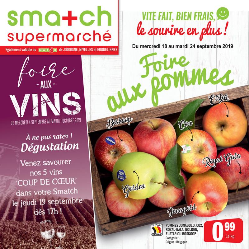 Folder Smatch du 18/09/2019 au 24/09/2019 - Promotions de la semaine 38