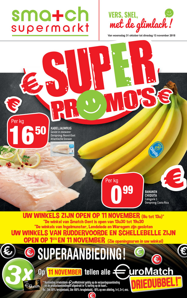 Smatch folder van 31/10/2018 tot 13/11/2018 - Weekpromoties 45