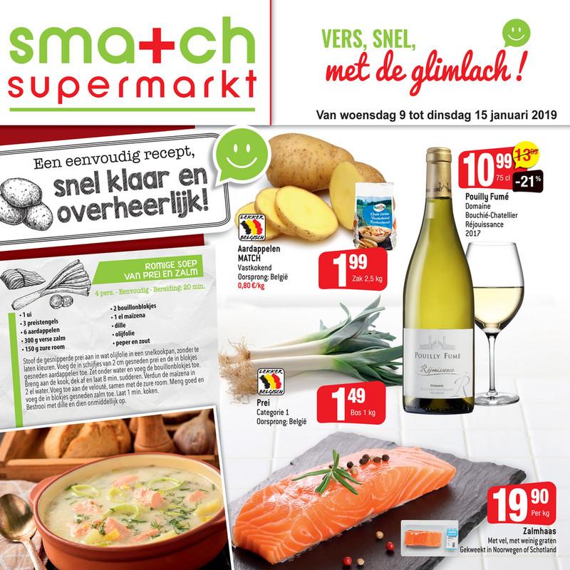 Smatch folder van 09/01/2019 tot 15/01/2019 - Promotions de la semaine 2