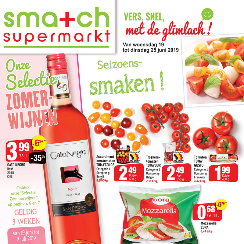 Smatch folder van 19/06/2019 tot 25/06/2019 - Weekpromoties 25
