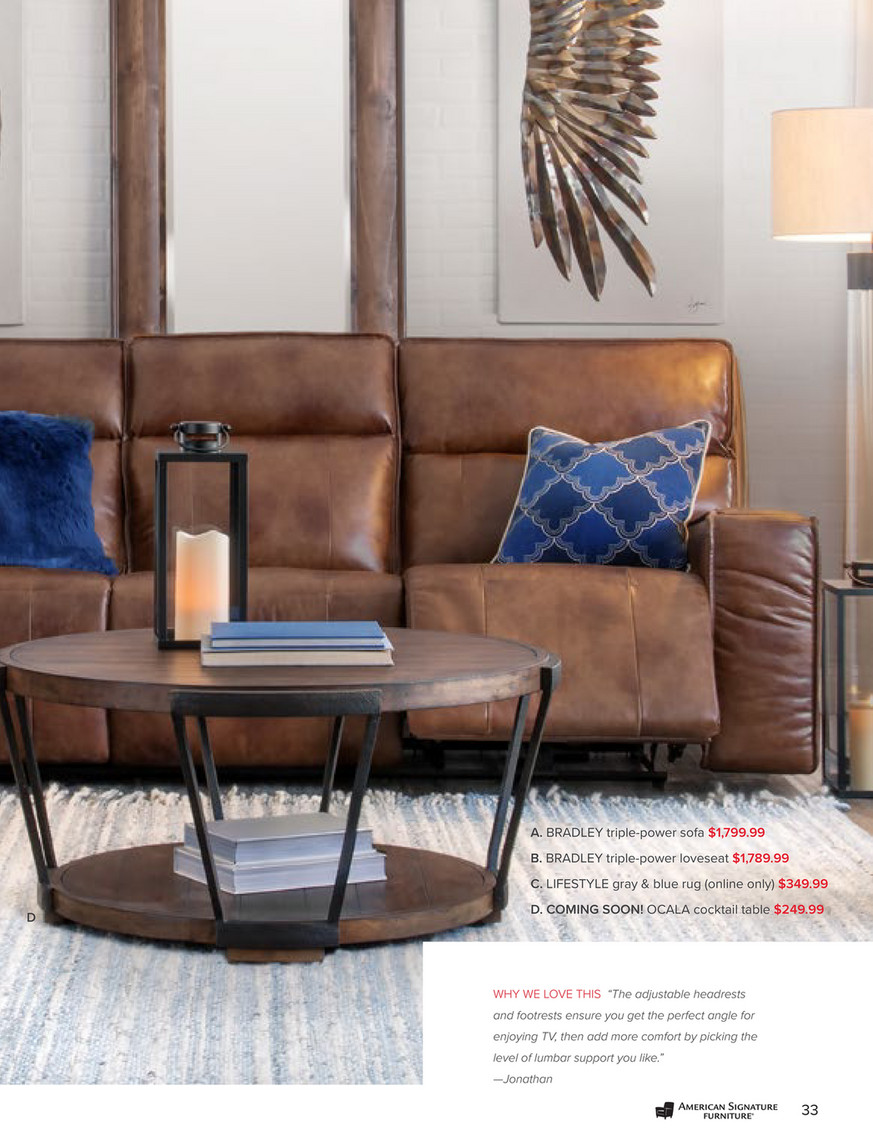 Excellent American Signature Furniture September 2018 Look Book Onthecornerstone Fun Painted Chair Ideas Images Onthecornerstoneorg