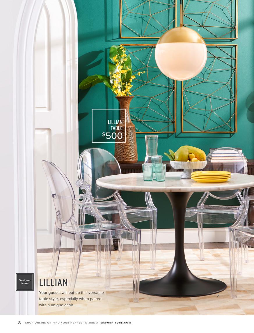 Spring Look Book 2019 American Signature Furniture Artemis Marble Dining Table