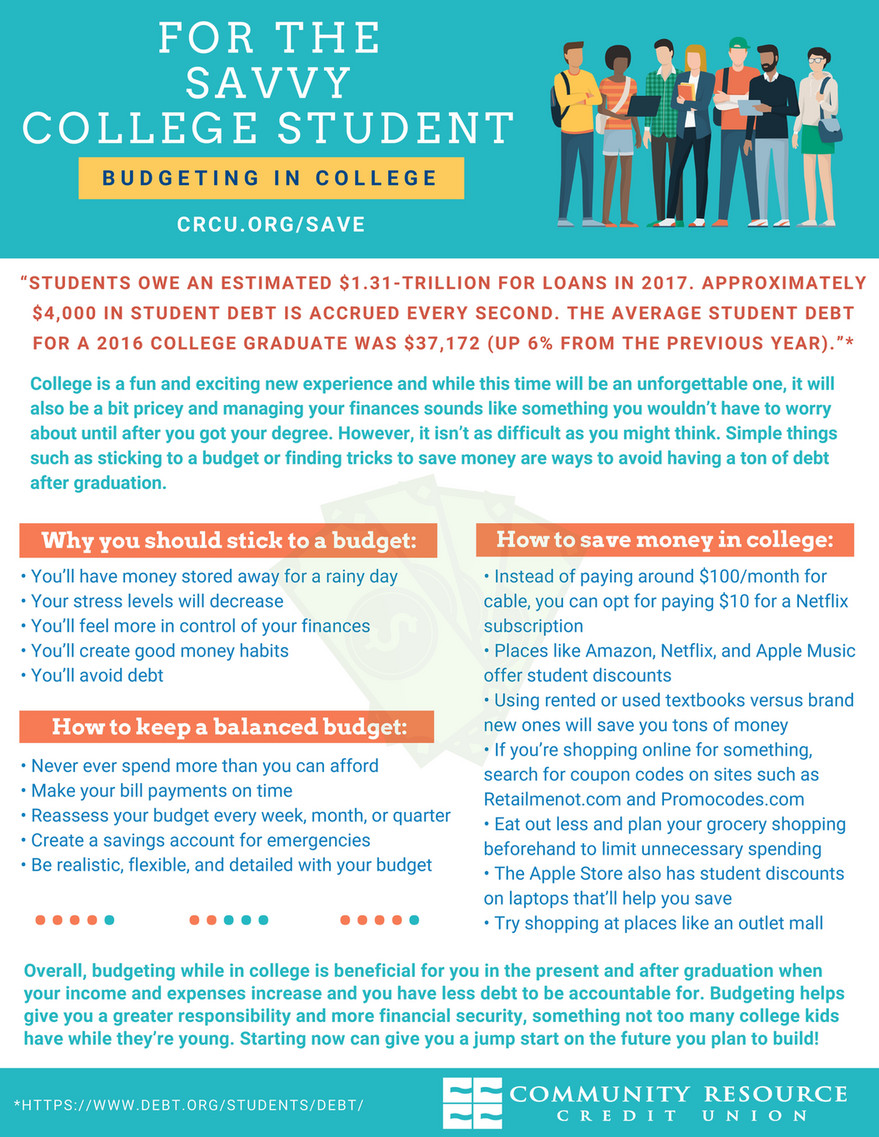 community resource credit union for the savvy college student 2018