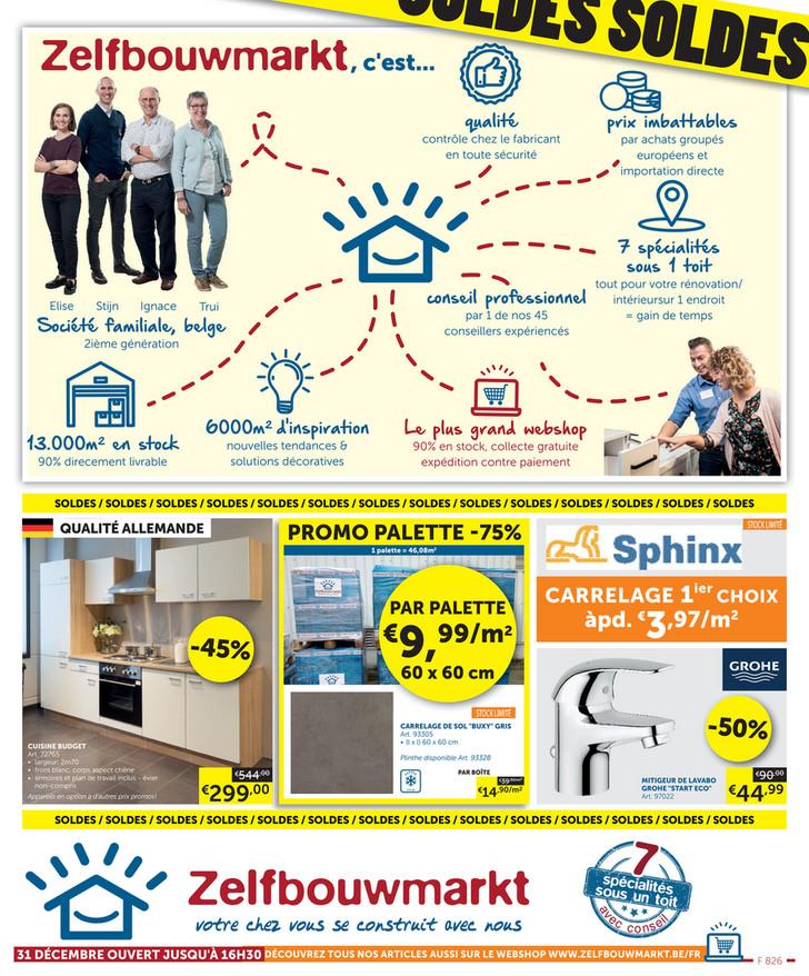 Folder Zelfbouwmarkt du 27/12/2019 au 27/01/2020 - Soldes
