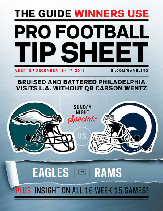 picture regarding Nfl Week 15 Printable Schedule identified as Weekly Suggestion Sheet: The Detailed Printable Betting Marketing consultant in direction of