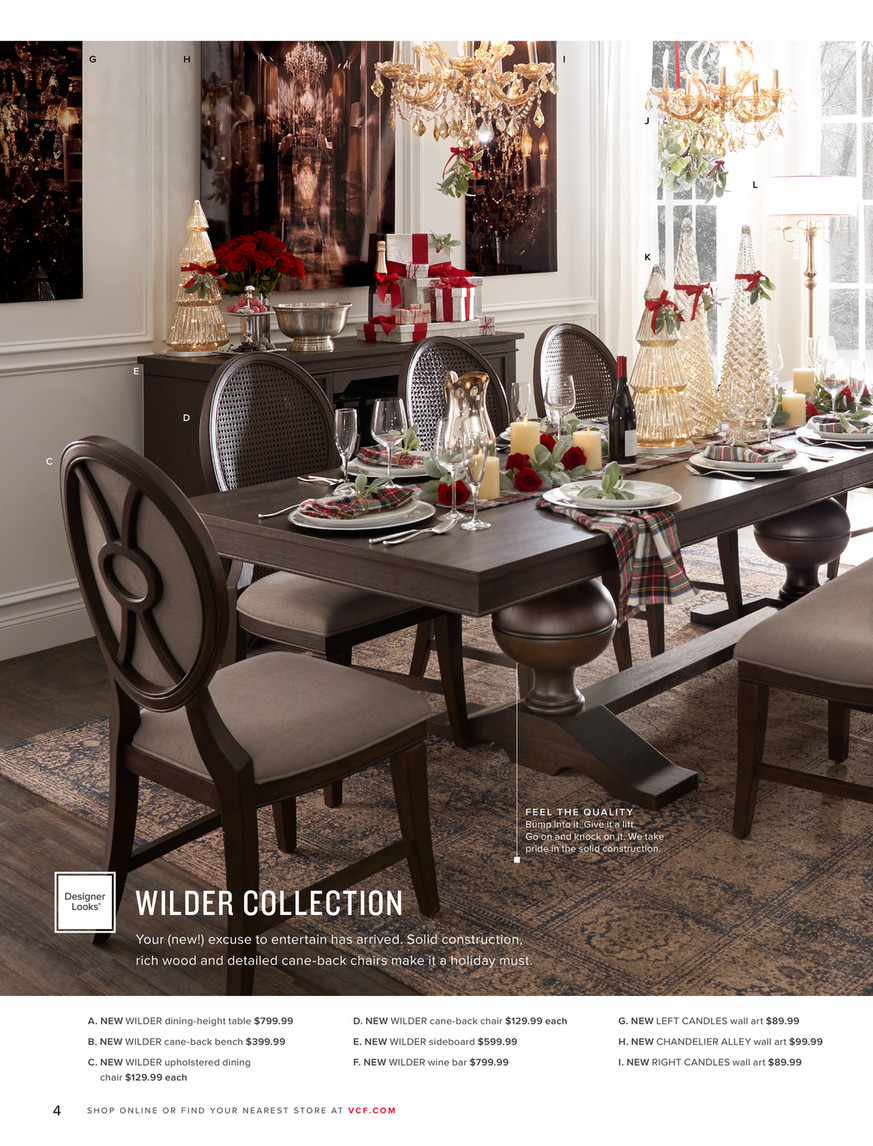 Value City Furniture Holiday 2019 Wilder Dining Chair
