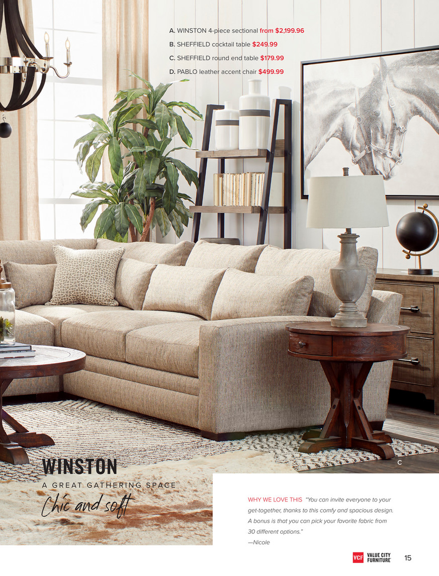 Sensational Value City Furniture Vcf Fall 2018 Look Book Winston Cjindustries Chair Design For Home Cjindustriesco