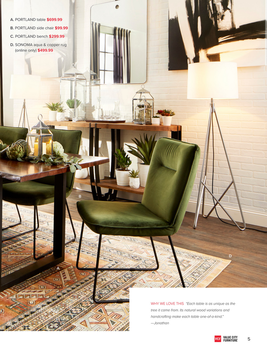 Incredible Value City Furniture Vcf Fall 2018 Look Book Portland Ibusinesslaw Wood Chair Design Ideas Ibusinesslaworg