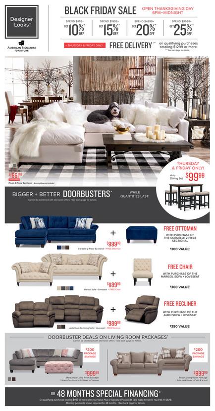 Black Friday Furniture Sales Ad Deals 2018 American Signature