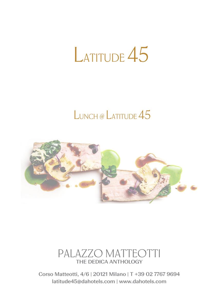 Terrazza Latitude 45 Lunch Menu Page 1
