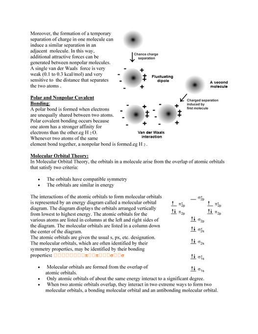 Chemical Bonds Pdf