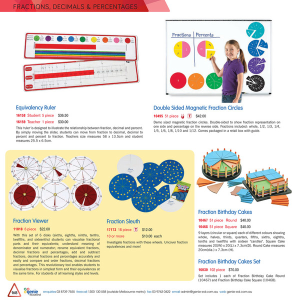 Genie Educational - FractionsDeciPerc2017 - Page 8-9 - Created with