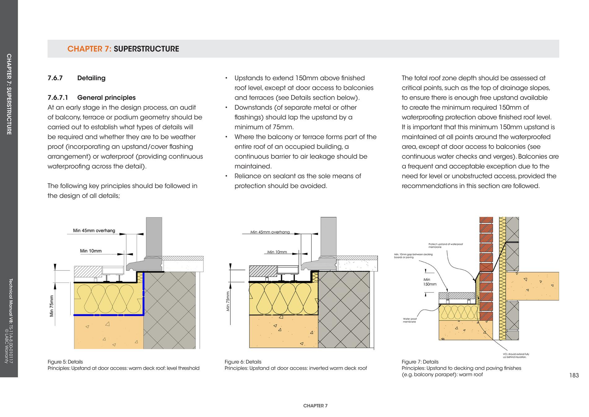 Labc warranty labc warranty technical manual v 8 page for Balcony upstand