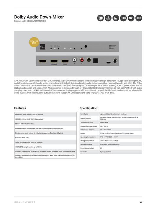 HD Connectivity - HDANYWHERE 2019 BROCHURE - Page 41