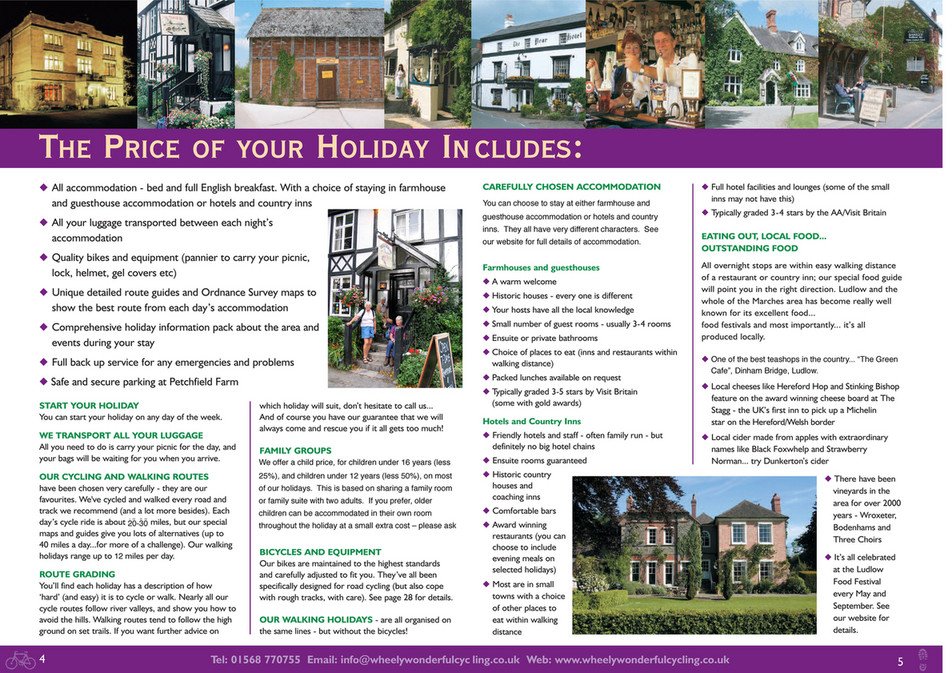 Wheely Wonderful Cycling Holidays Brochure - Page 1