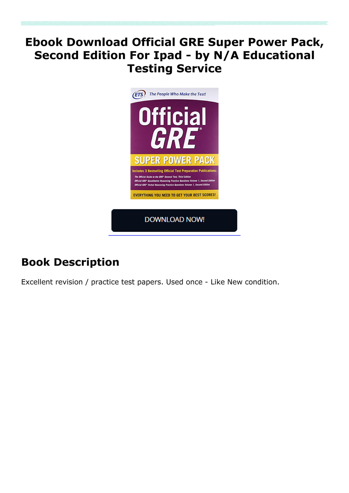 official gre verbal reasoning practice questions second edition volume 1