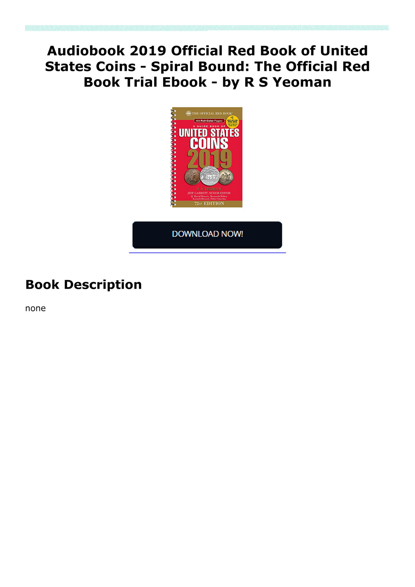 sepsojiknow3w - Audiobook 2019 Official Red Book of United States Coins -  Spiral Bound: The Official Red Book Trial Ebook - by R S Yeoman - Page 1