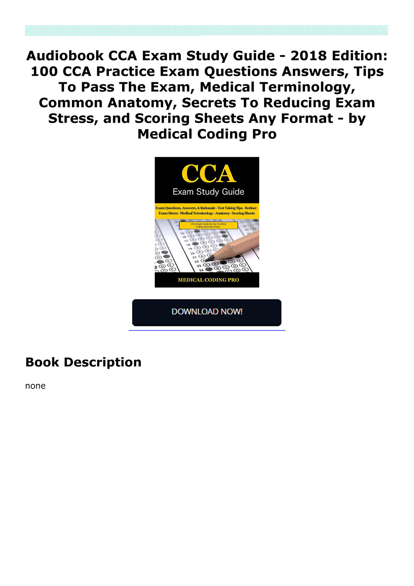 Jakkojulto3er Audiobook Cca Exam Study Guide 2018 Edition 100