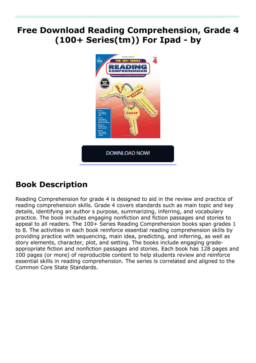 Vukkupetri34r Free Download Reading Comprehension Grade 4 100
