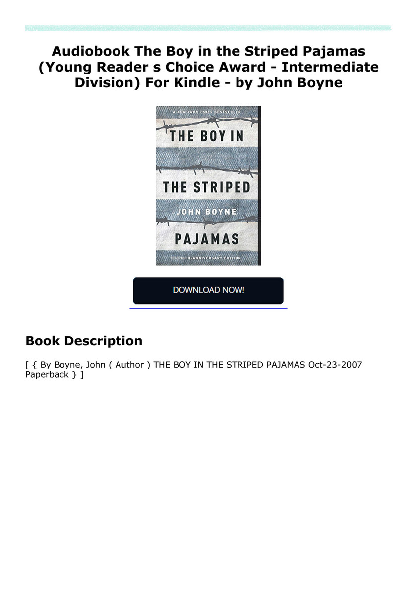 Rordaragni3ed Audiobook The Boy In The Striped Pajamas Young