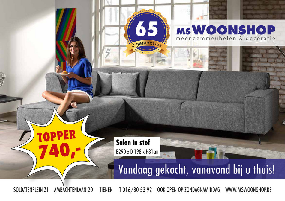 MS Woonshop folder van 24/09/2019 tot 31/12/2019 - Maandpromoties
