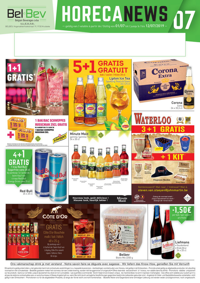 Folder BelBev du 01/07/2019 au 12/07/2019 - Promotions de la semaine 27