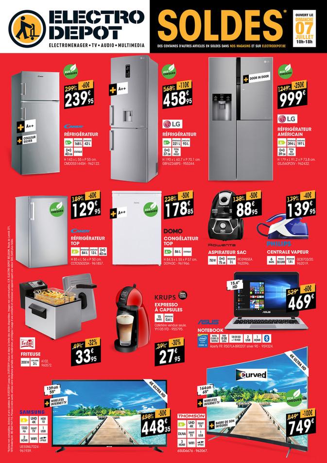 Folder Electro Depot du 01/07/2019 au 31/07/2019 - Promotions du mois