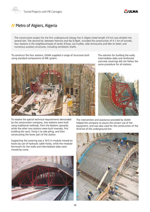 ULMA Construction - MK Formwork Carriages for Tunnels - Page 28-29