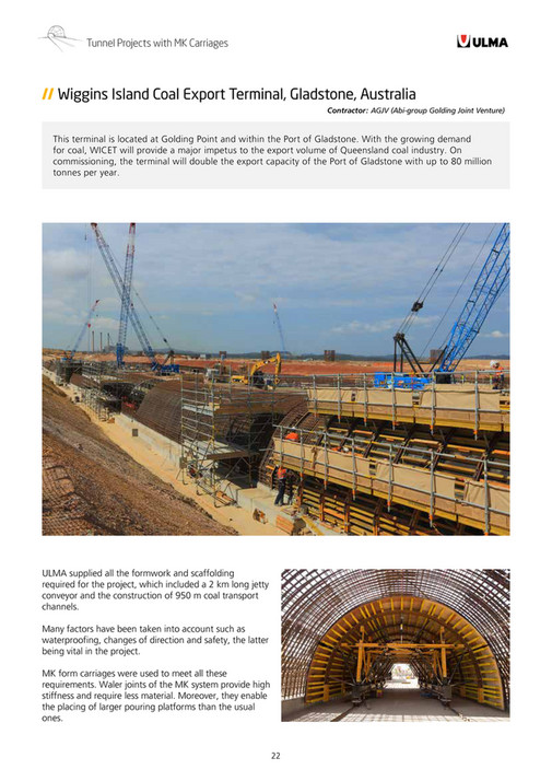 ULMA Construction - MK Formwork Carriages for Tunnels - Page