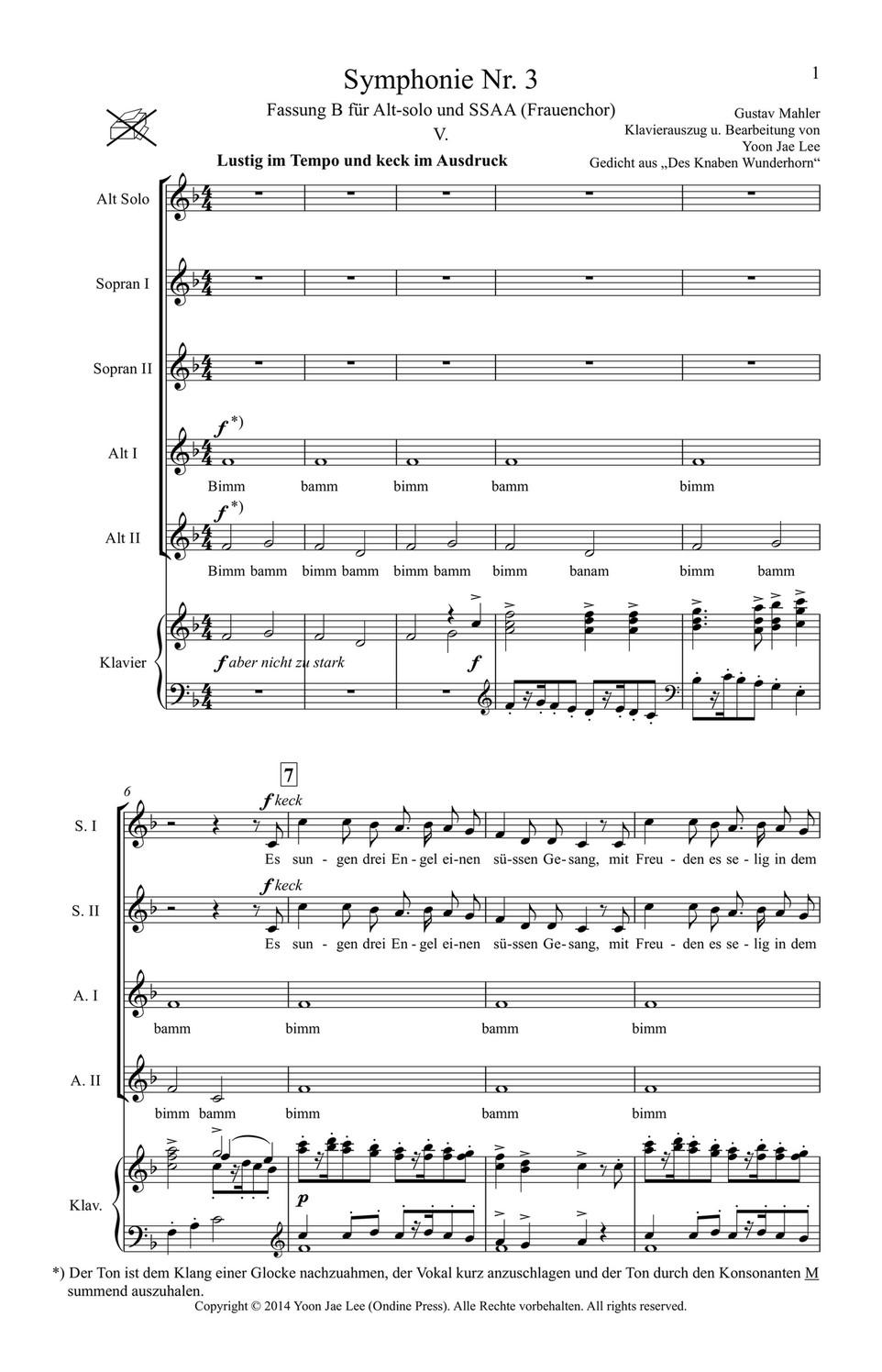2 Klavierauszug : 4 und 5 Symphonie Nr Satz