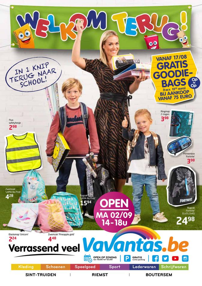 Vavantas folder van 12/08/2019 tot 08/09/2019 - Terug naar school