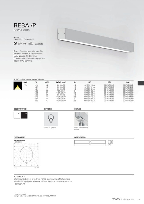 Indelague - ROXO LIGHTING 2015 Catalogue - Page 126-127