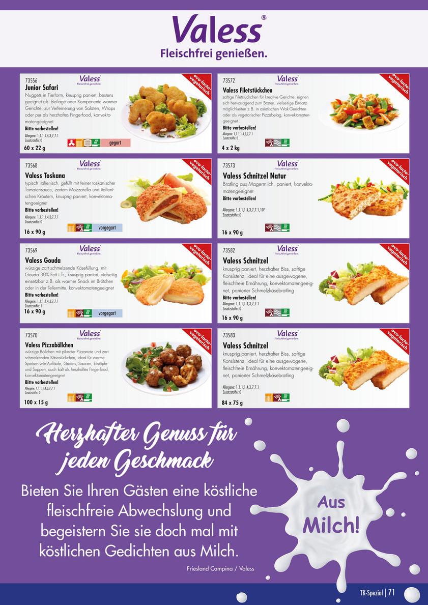 Speisekarte für eine ausgewogene Ernährung
