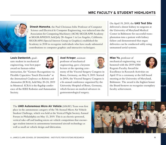 Maryland Robotics Center Fall 2019 Mrc News Page 8 9