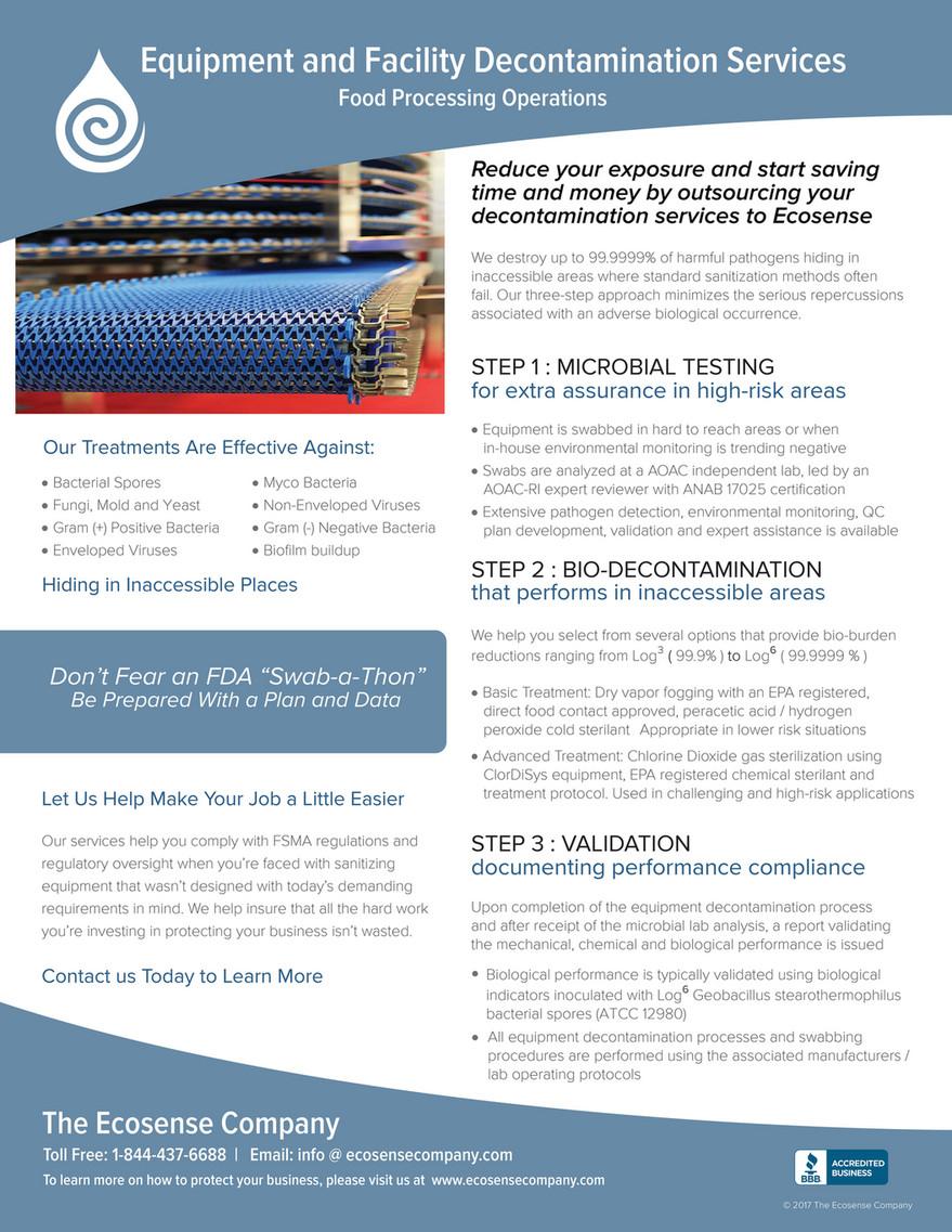 Ecosense Company - Equipment and Facility Decontamination