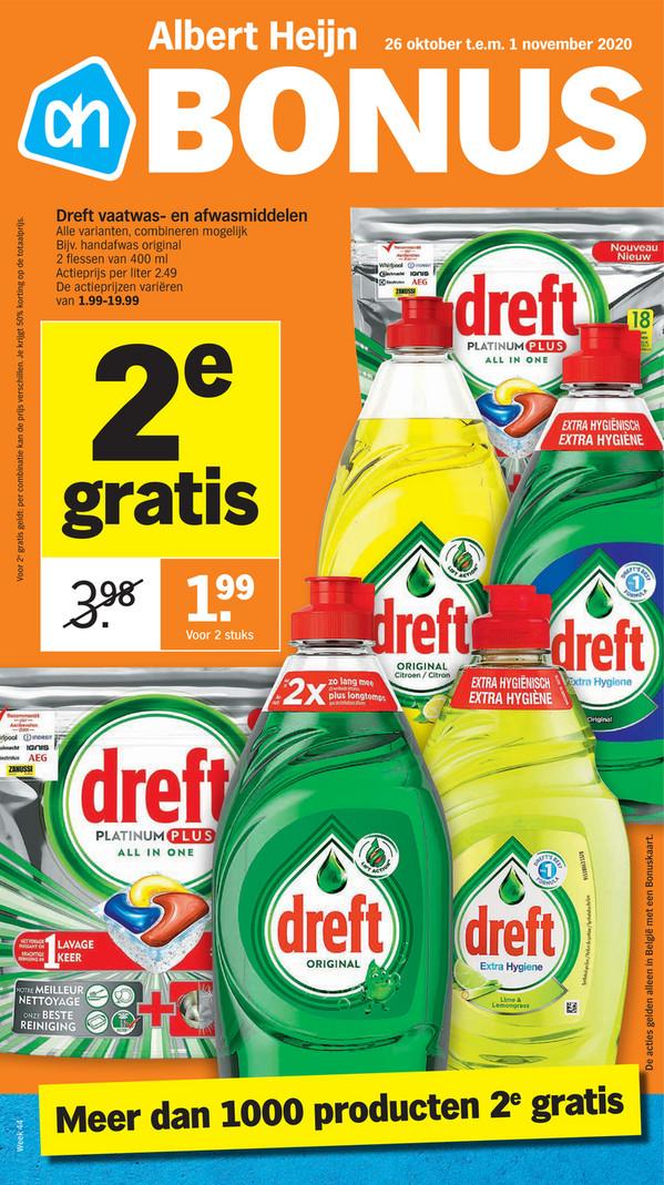 Albert Heijn folder van 26/10/2020 tot 01/11/2020 - Weekpromoties 44