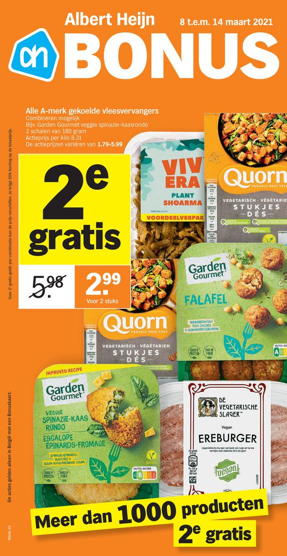 Albert Heijn folder van 08/03/2021 tot 14/03/2021 - Weekpromoties 10