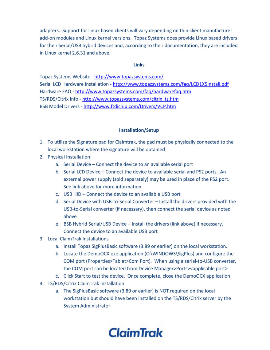 ClaimTrak - Signature Pad Guidance - Page 2 - Created with