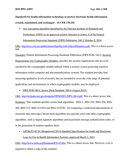 ClaimTrak - Final Rule for 2015 - Page 456-457 - Created